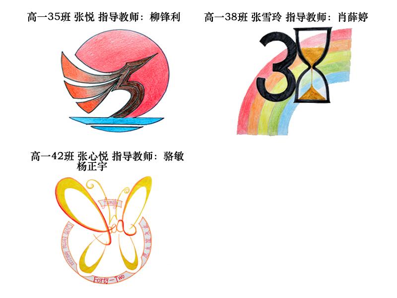 2013年高一年级班徽设计大赛评选结果